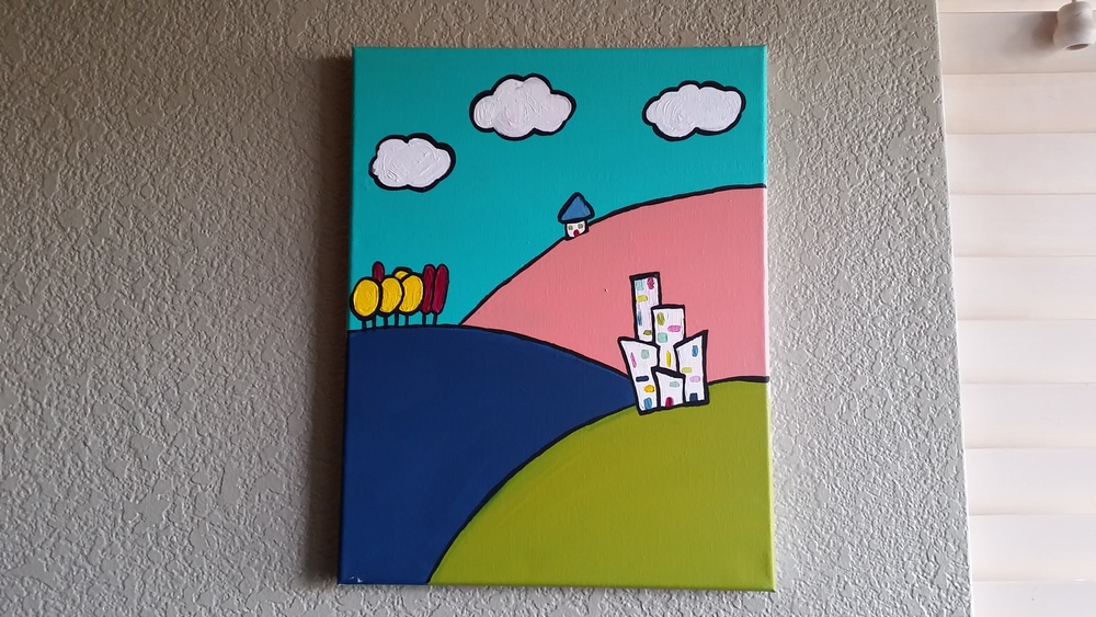 One of my favorite painting's that I have done. It just makes me smile.