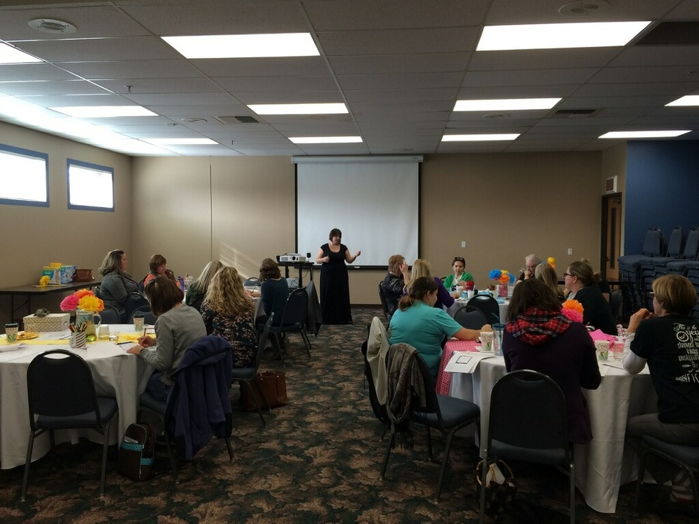 Speaking at a MOPS group in Roseville, California