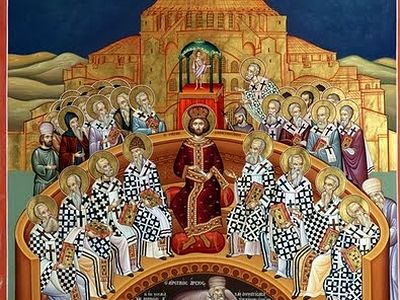 Commemoration of The Assembly of the Ecumenical Council at Nicea, celebrated on 9 Hator / 18 November