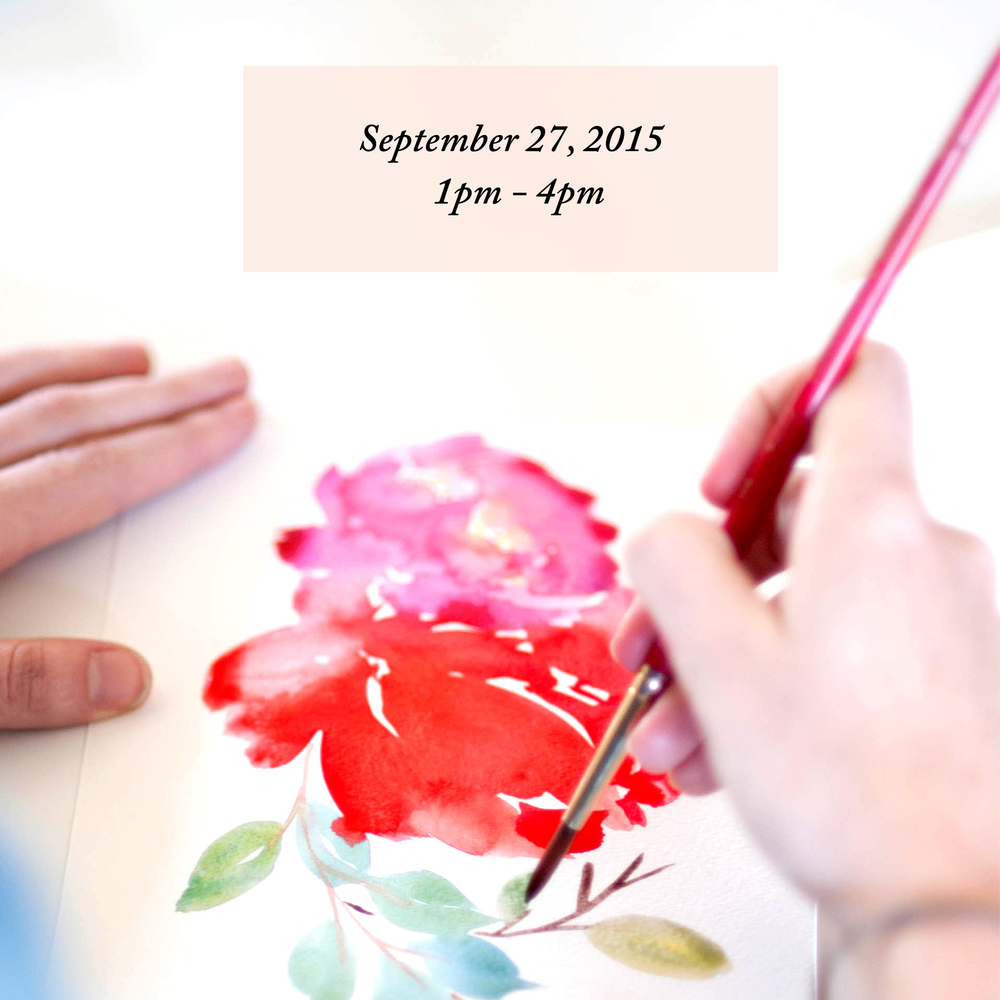 Floral Watercolor Workshop Los Angeles