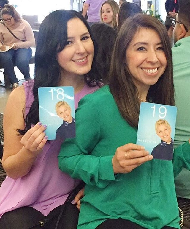 This is what we do, this girl and I, every since I can remember we've been partners in crime, best friends, misfits, fanatic movie goers, then biz partners, and now @theellenshow attendees together! Check, done it all!! ✔️😂 #sisters #ellendegeneres