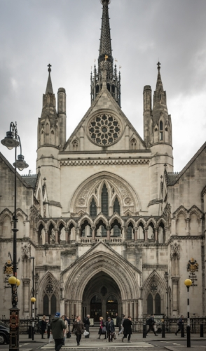 The Royal Courts of Justice in Holborn, Central London