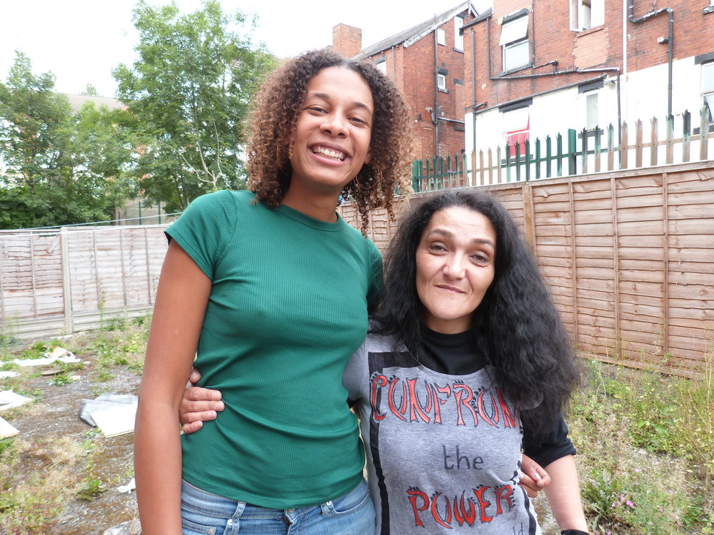 Naima, producer and Cookie's caseworker, with Cookie
