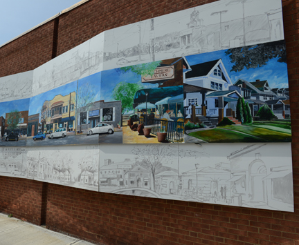 Larchmere Mural