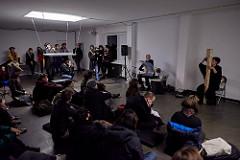 SHIROSHI Konzert- und Klanginstallation), Miako Klein (mit Michael Weilacher, Carolin Liedtke, Martin Boverhof), Galerie BRAENNEN @ Heroines of Sound Festival 2016 © marco microbi/photophunk.com