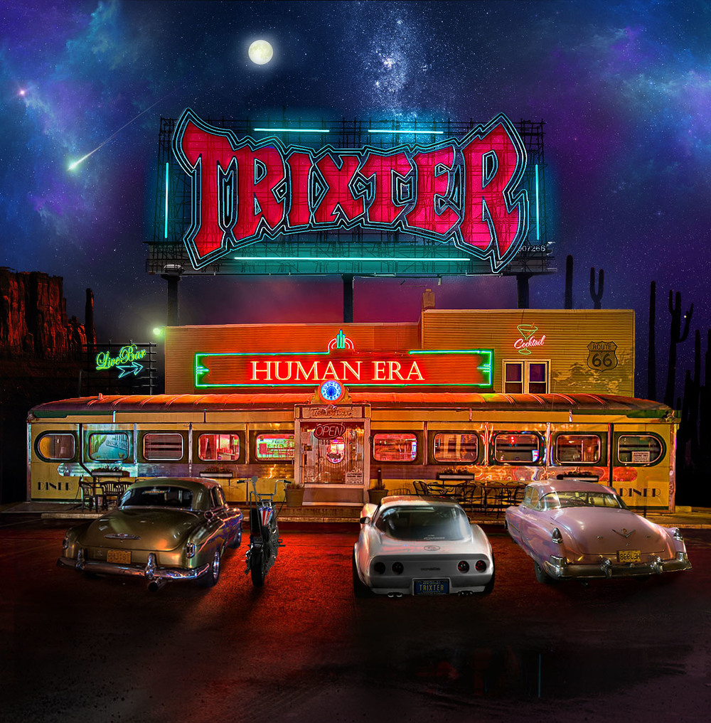 "Trixter – Human Era I must say, I was pretty excited to pop in Human Era, the latest offering from Trixter…..one of the bands that, in this humble rock writer's opinion just didn't get enough accolades….and still haven't.  Sure they were a part of the 2nd or maybe 3rd wave of bands that fall under the ""glam"" or ""hair"" moniker or whatever.  I'd hope if Trixter had hit the scene earlier, they'd have the world by the balls… but ya know what? To me they still do, and that's ok.  These guys are solid, fun hard rock that goes beyond a scene or look.  Don't know what I'm talkin' about?  Go grab Human Era and you'll have all the answers you need. Rockin' To The Edge Of The Night blasts this record off and really sets the tone for whats to follow.  Riffy and catchy with a great hook, you'll be rollin' down the windows and wishing it was Friday night already.  The 2nd song, Crash That Party completes this album's opening 1-2 punch and completely grabs you by the throat.  ""You WILL listen to this record!"" it says, as it shakes you and stares you down. Beats Me Up and Every Second Counts are additional standouts on this record… the musicianship on all fronts has stepped up… Pete Loran has never sounded stronger, Mark ""Gus"" Scott is laying down some powerful double bass, and Steve Brown and PJ Farley are riffing, weaving and interlocking each other's fretboards to the umpteenth degree. Trixter have really tapped into their audience with Human Era.  Sure, we are older and for a lot of us, it's not about ragin' and partying 24/7 anymore.  Relationships, work, money, counting down to the weekend are what's going on nowadays, and it's awesome to put on a song like ""Good Times Now"" or ""Human Era"" and feel like it was written just for you and what you're going through.  This along with the insane solos and hooks make Human Era an instant favorite, and an album I could use as a calling card if you will for what's going on these days.  Please support this record, and catch a live show when they inevitably roll through your town."