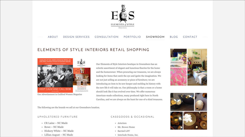 Interior Designer Website Example 3