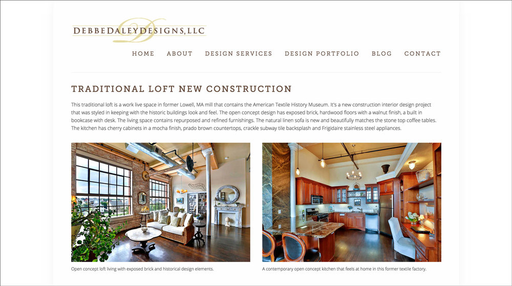Interior Decorator Website Example 2