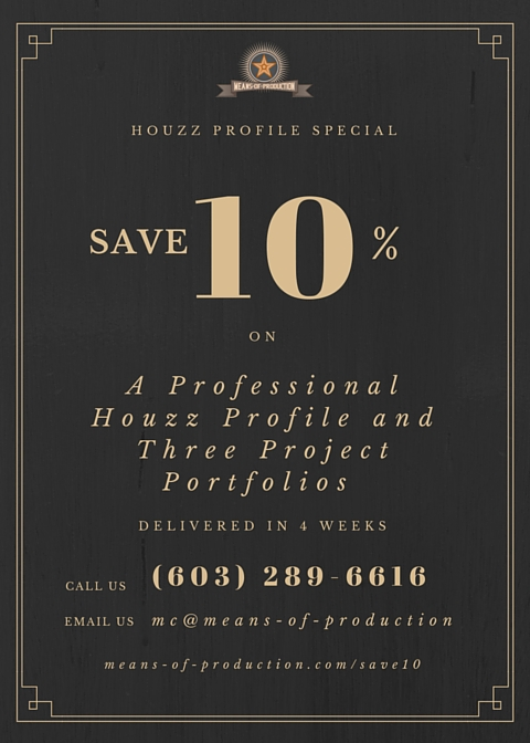 Professional Houzz Profiles Created For Your Firm