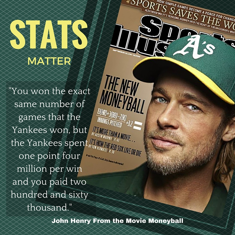 Brad Pitt Moneyball Movie with Stats Matter