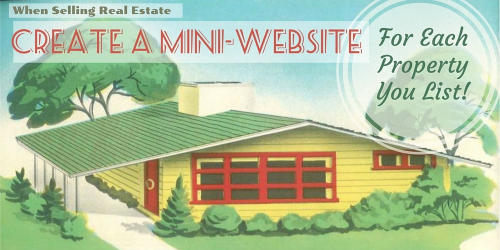 selling real estate with a mini website Vintage house banner