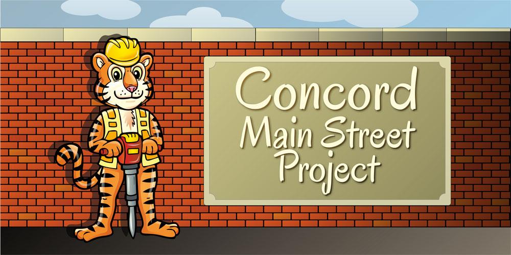Concord Main Street Logo Mascot