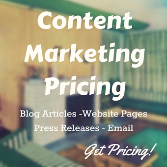pricing for blogs, websites, copy press releases and email marketing