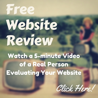 Request a video analysis of your current website
