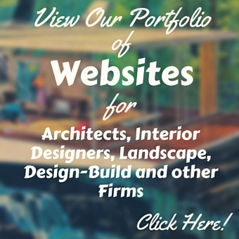 website portfolio for architects, interior designers landscape & design-build firms