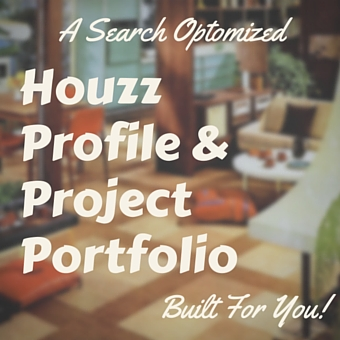 a search optimized houzz profile and project portfolio