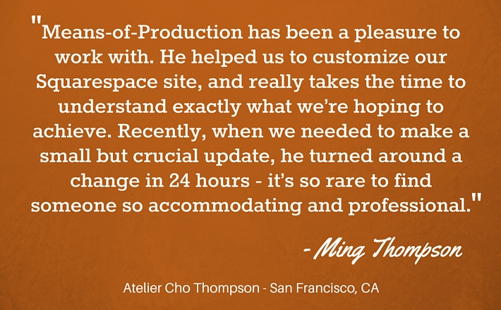 means-of-production testimonial