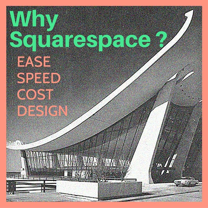 Why use squarespace for website design? Ease, Speed, Cost & Design.