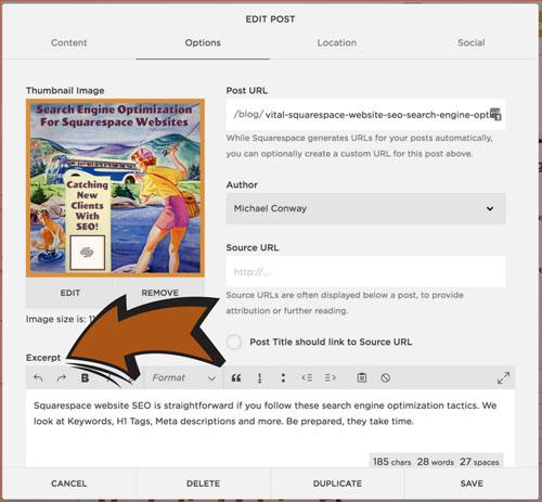 Adding Meta Descriptions to A Squarespace Website