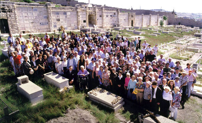 Jewish survivors honor Schindler at his grave in Jerusalem.