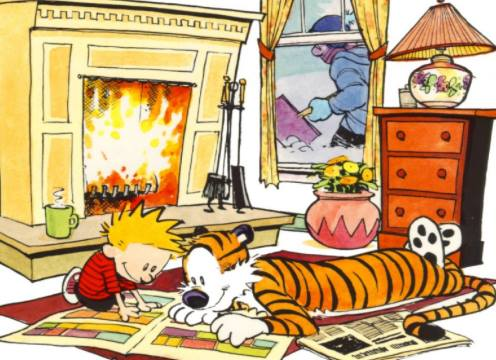 Calvin and Hobbes. And money. — CHRISTOPHER MORLOCK