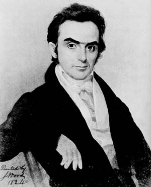 Young Daniel Webster. In a biopic, he could've been played by a Blackadder-era Rowan Atkinson.