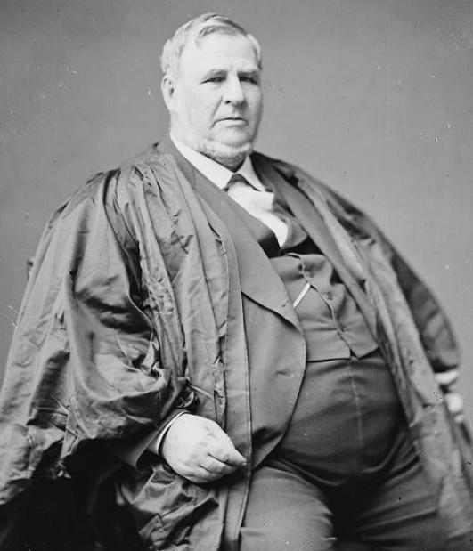 Justice David Davis, who looks like he ate both Jefferson Davis and David Justice.
