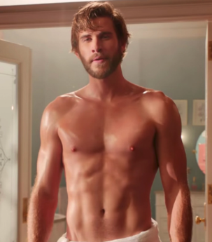 Liam Hemsworth made his pec dance in every shot of this Groundhog Day-esque repeated sequence …