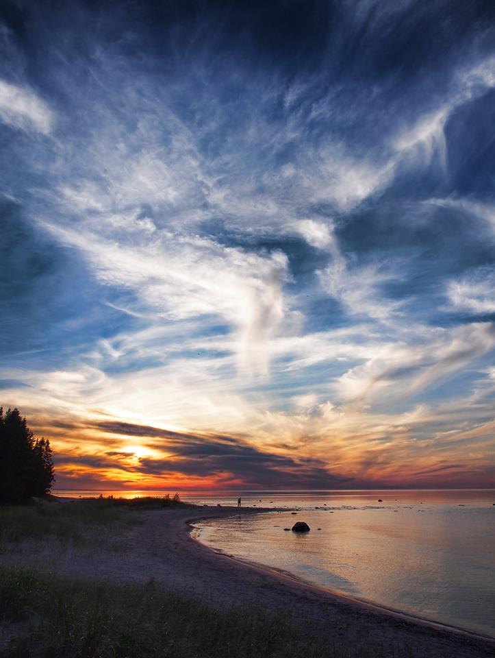Lake Huron Sunset Rogers City MI-Photo by Terry Doyle