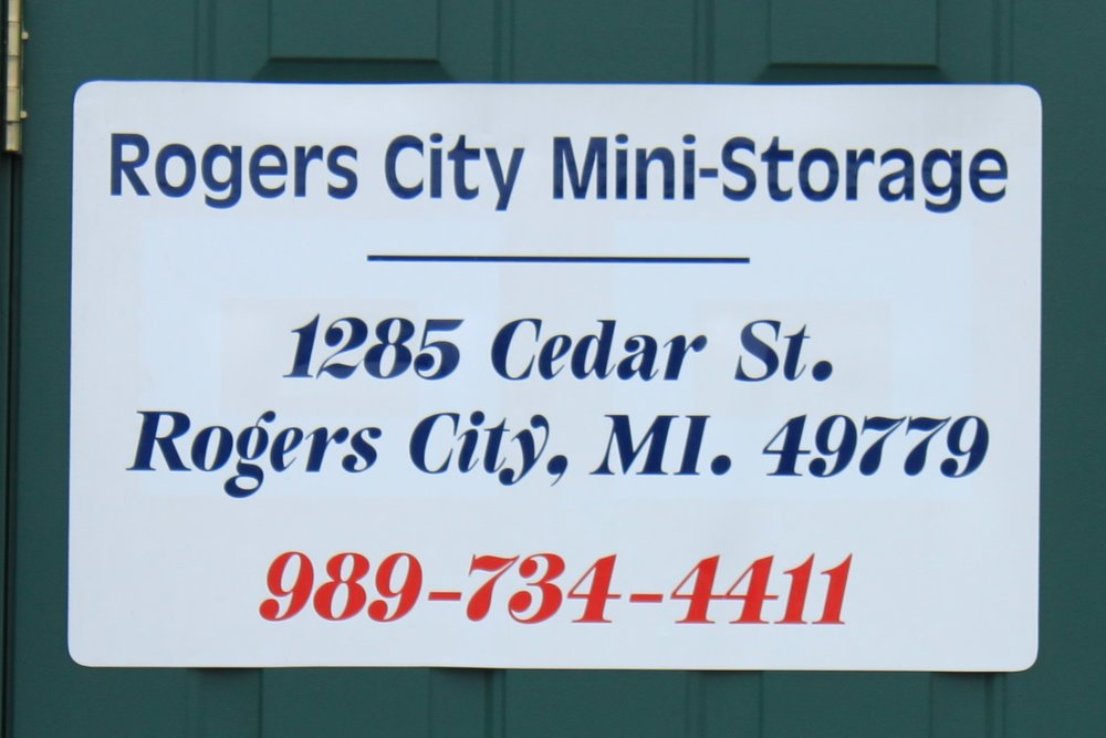 Rogers City Mini Storage - 1285 Cedar StreetRogers City, MI 49779989-734-4411