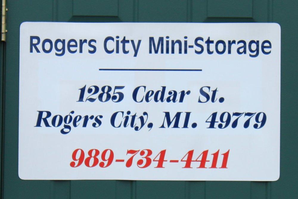 Rogers City Mini Storage - 1285 Cedar StreetRogers City, MI 49779(989) 734-4411