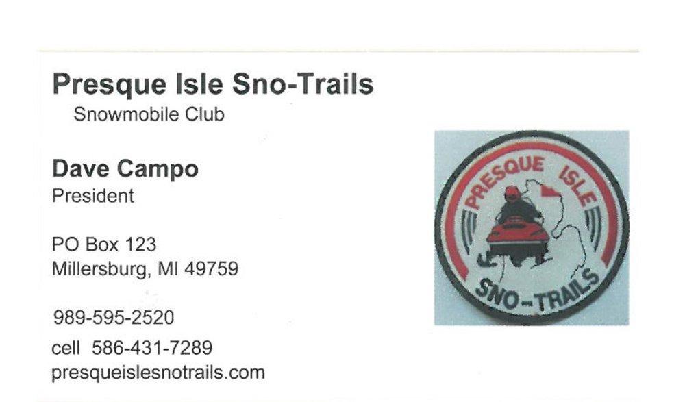 Presque Isle Sno-Trails - PO Box 123Millersburg, MI 49759989-595-2520