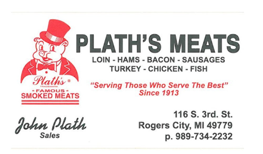 Plath's Meats - 116 South Third StreetRogers City, MI  49779989-734-2232