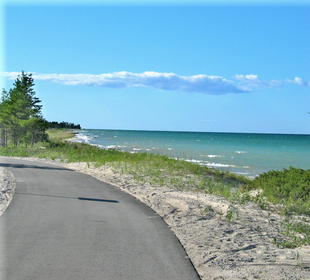 Biking  - Exploring Rogers City on a bicycle is the way to go. The HURON SUNRISE TRAIL travels through Rogers City and up the Lake Huron coastline. This trail offers ten miles of spectacular views
