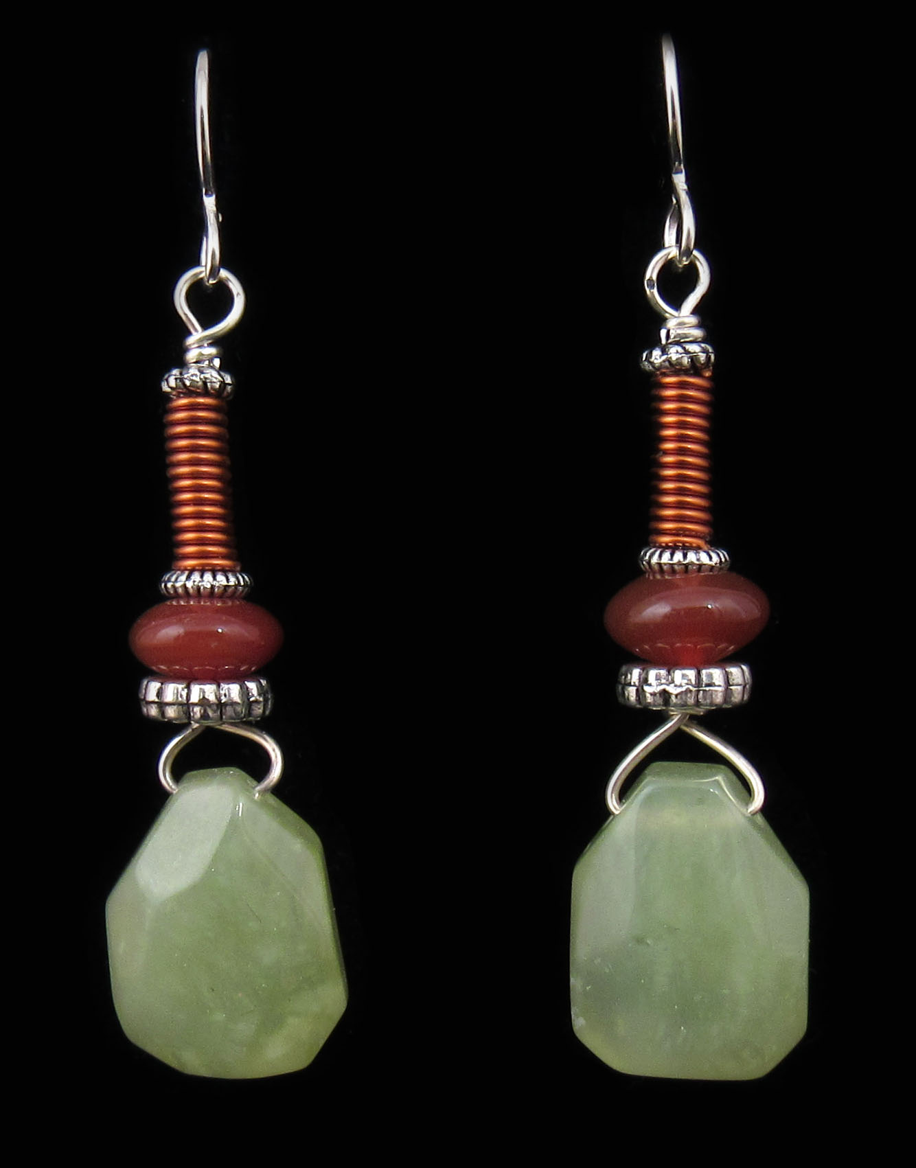 stone earrings carnelian orange previous hazari creations product