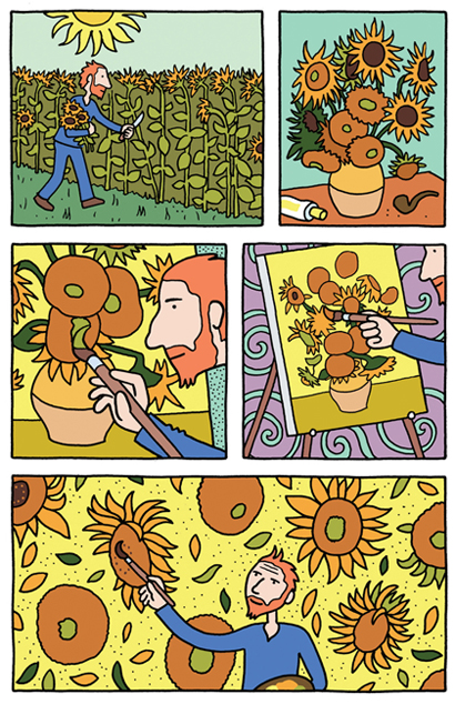 A page from Vincent (click on image for link to SelfMadeHero)