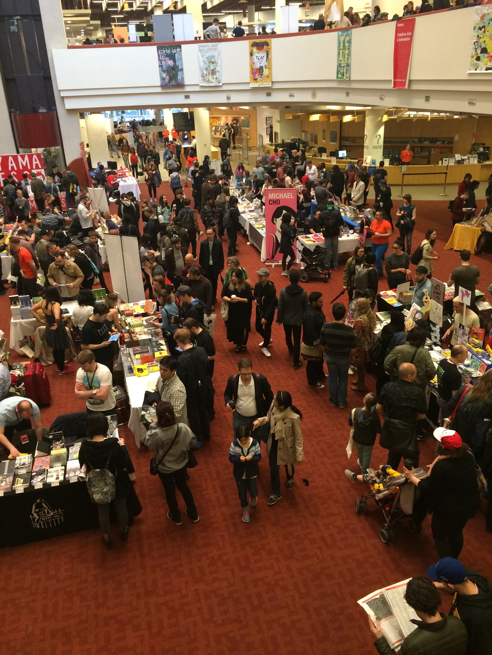 The Toronto Comics Arts Festival book fair at the Toronto Reference Library