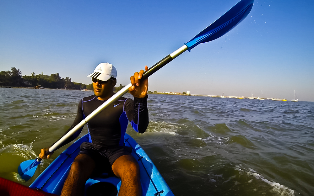 Kaustubh Khade solo kayaking