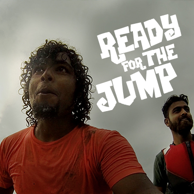 Ready for the jump in Chaliyar River