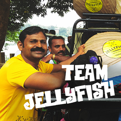 Team Jellyfish at Chaliyar River