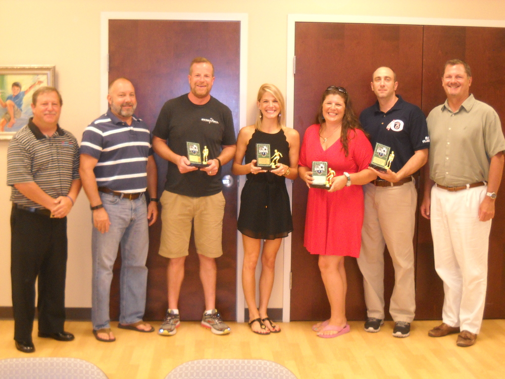 From Left - Bob Rozek, Joe Mezera, Chad Perrine, Katie Kurkal, Stephanie Cauller, Brian Cauller, Alan Perry