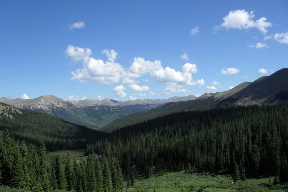 View between Hancock & Hancock Pass