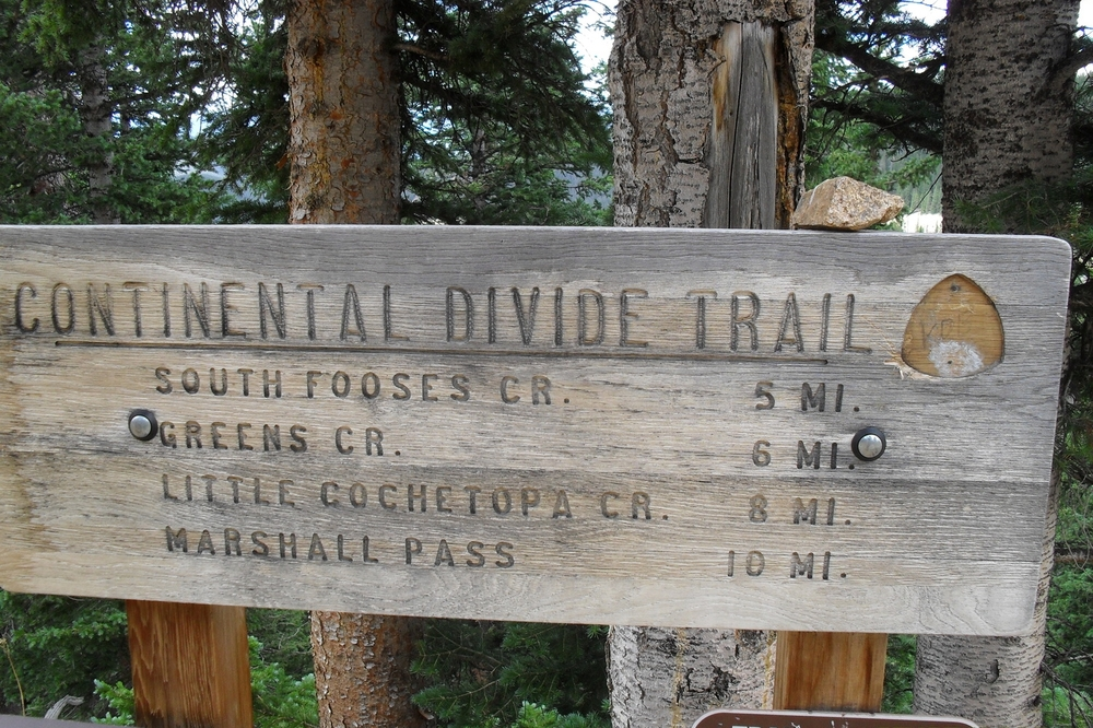 The Continental Divide Trail - near Monarch Pass Traihead