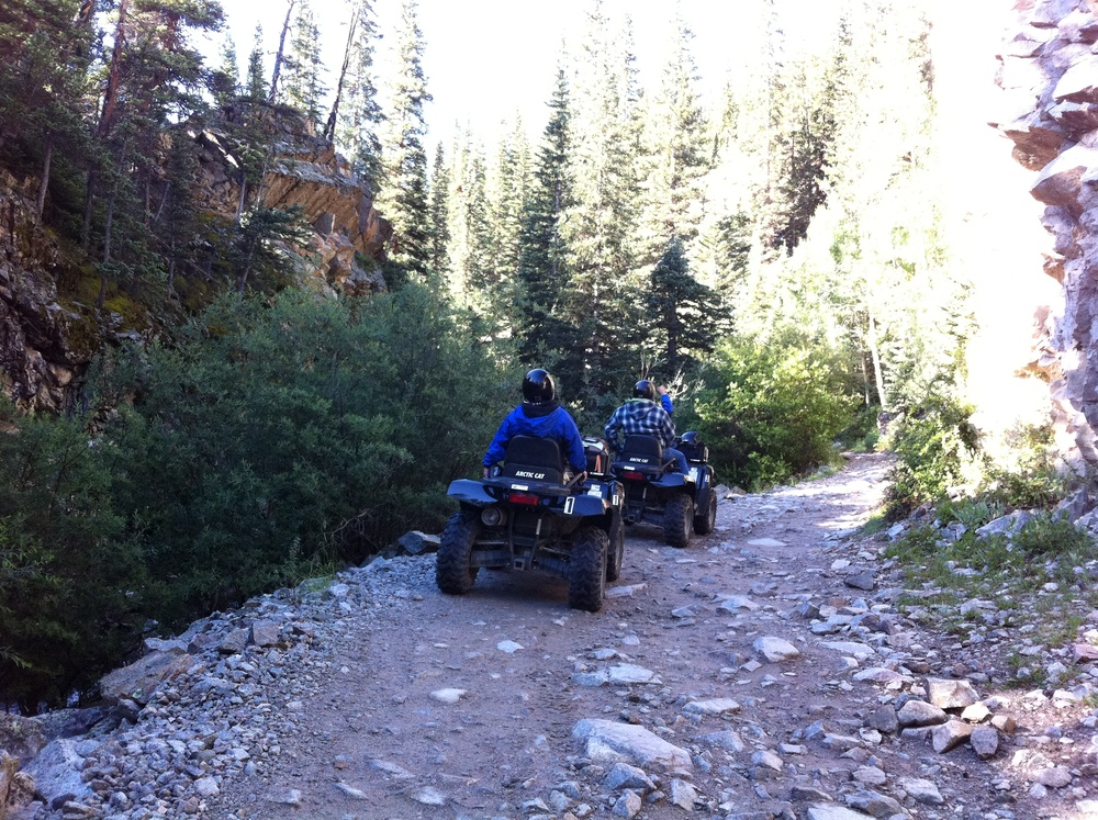 ATV's along Baldwin Creek