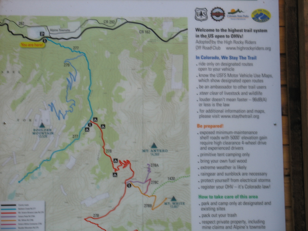 Mt Antero Trail Head Map