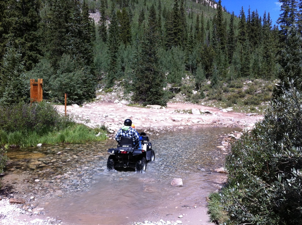 ATV Crossing Baldwin Creek - Mt Antero Area