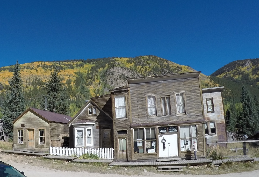 Colorado's most original ghost town, St. Elmo, is located at the end of chaffee county road 162.