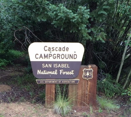 Cascade Campground Sign