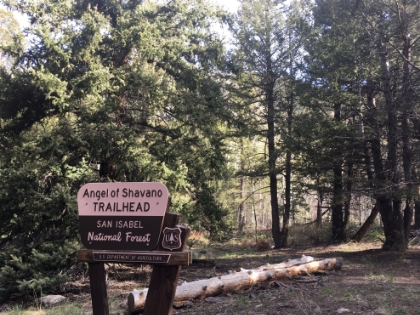 Angel of Shavano Trailhead
