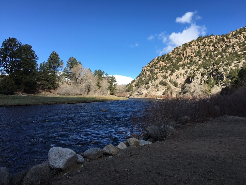 Arkansas River passing Ruby mountain campground Sites 14-19